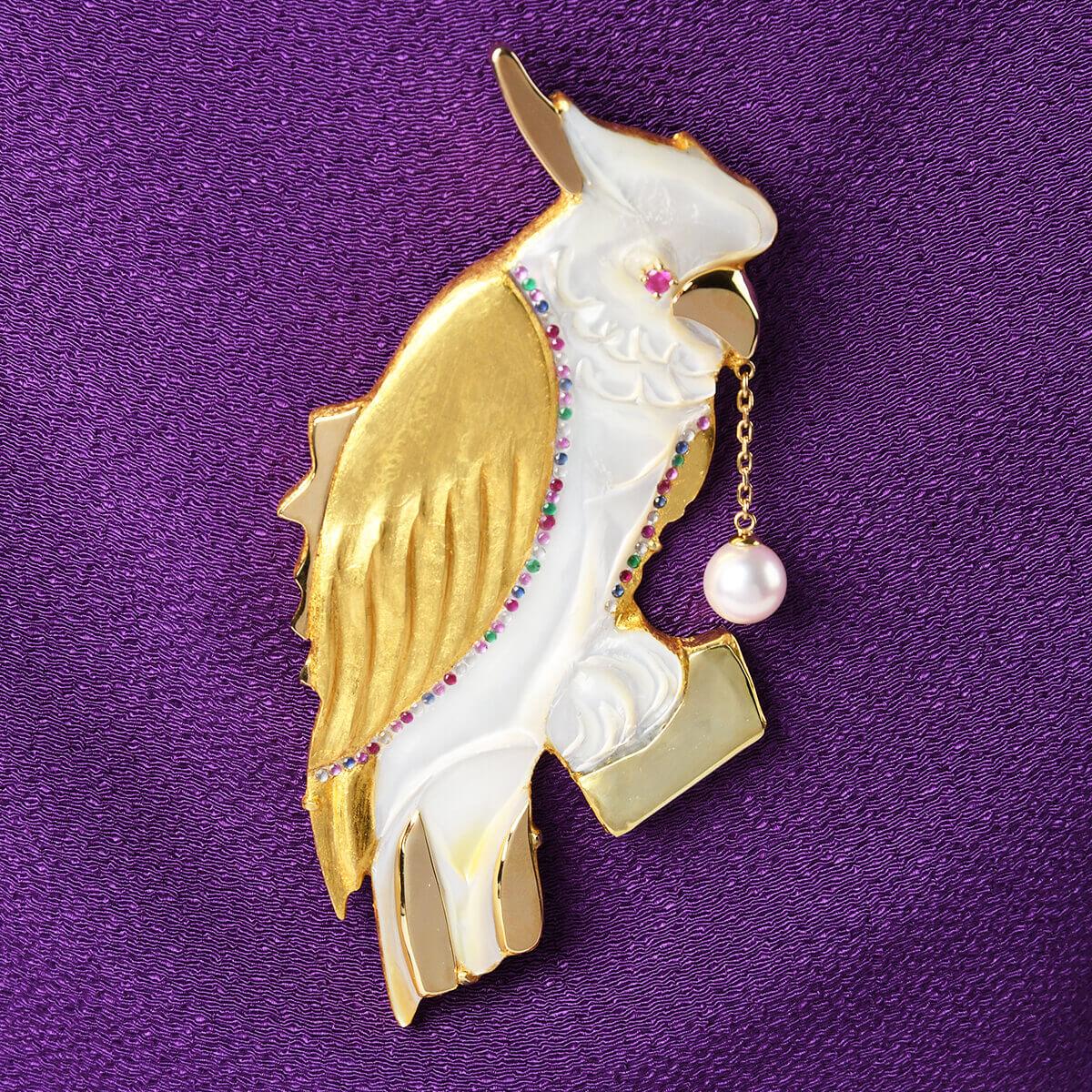 美の守り・黄金 幸の鳥(Golden Parrot)・L
