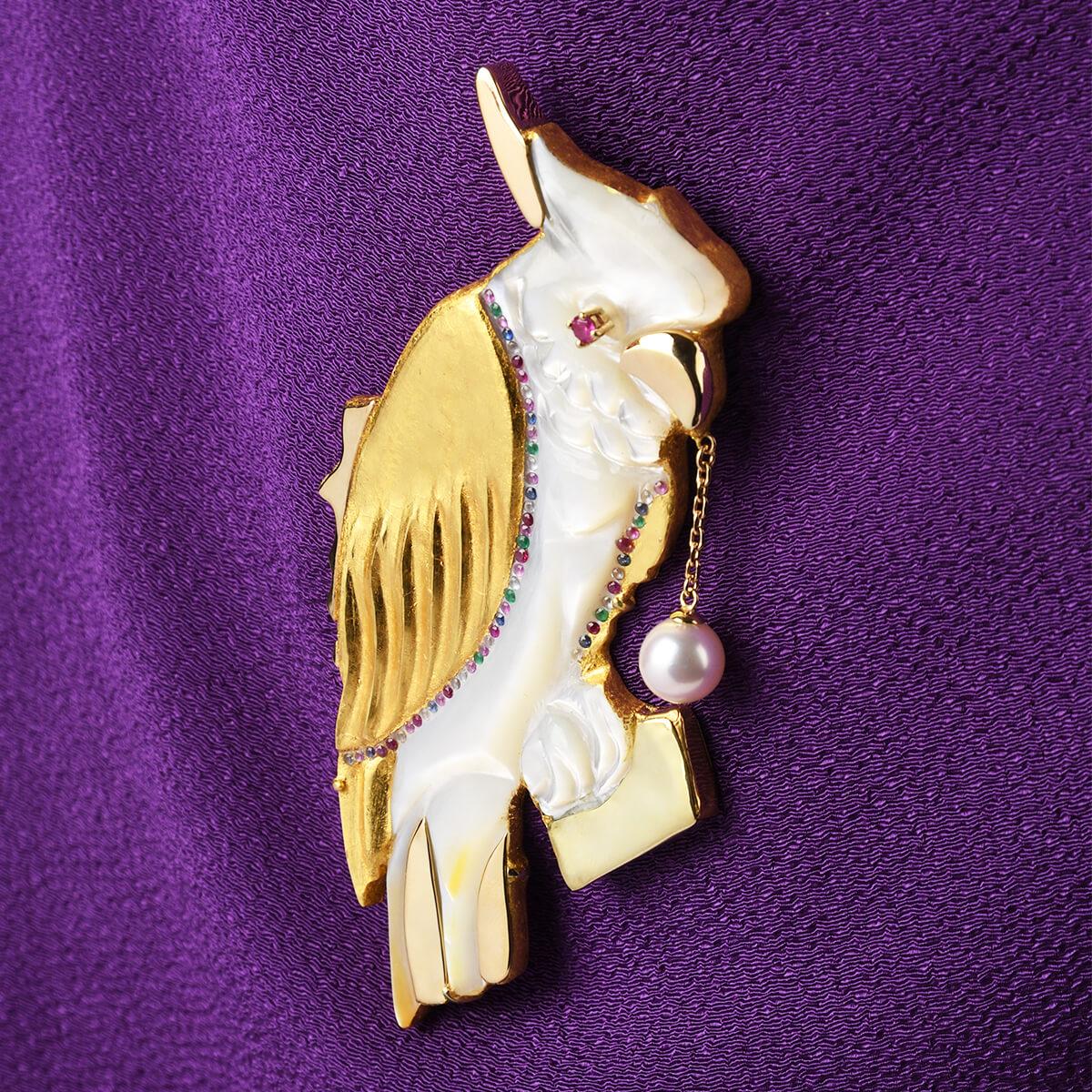 美の守り・黄金 幸の鳥(こうのとり)(Golden Parrot)(L)